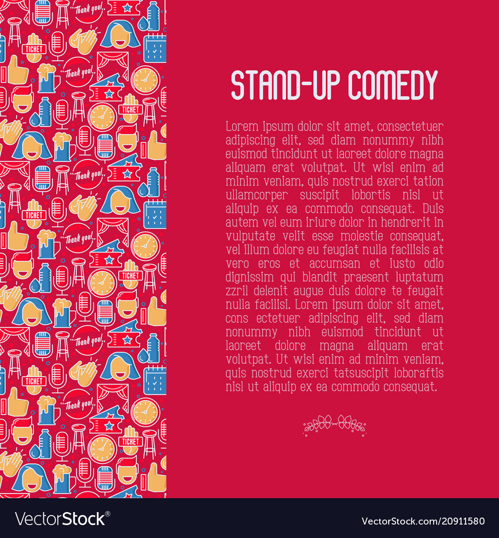 Stand up comedy show concept in circle