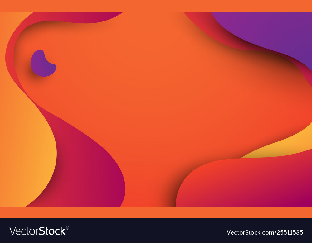 Abstract colorful fluid shapes summer background