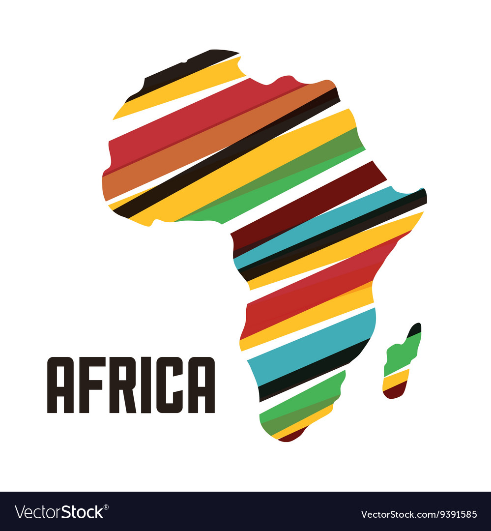 Africa design map shape icon graphic
