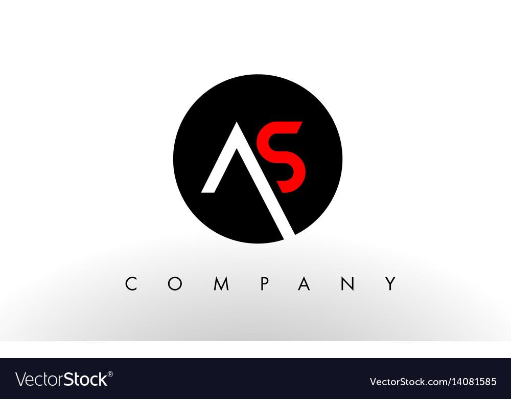 As logo letter design