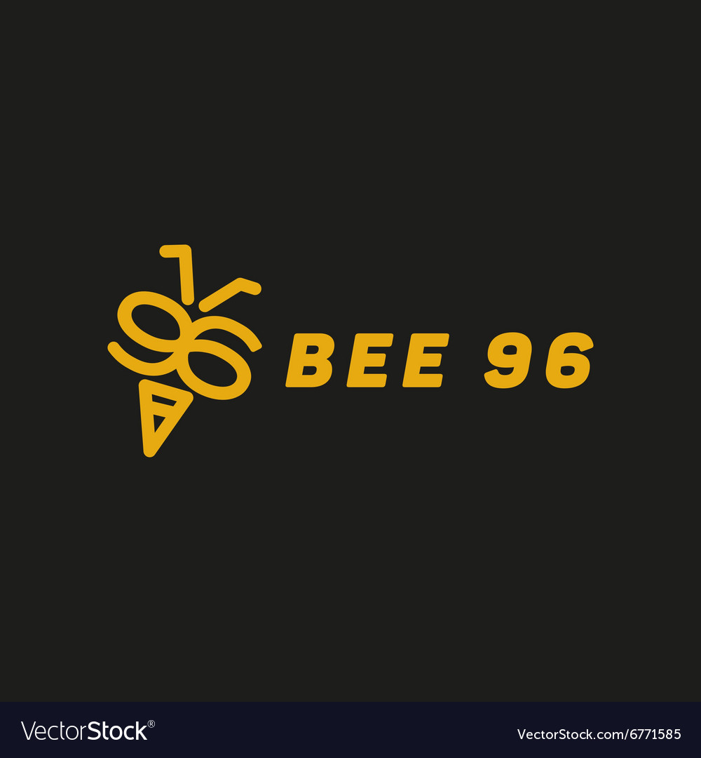 Bee wings in the form of numbers 96