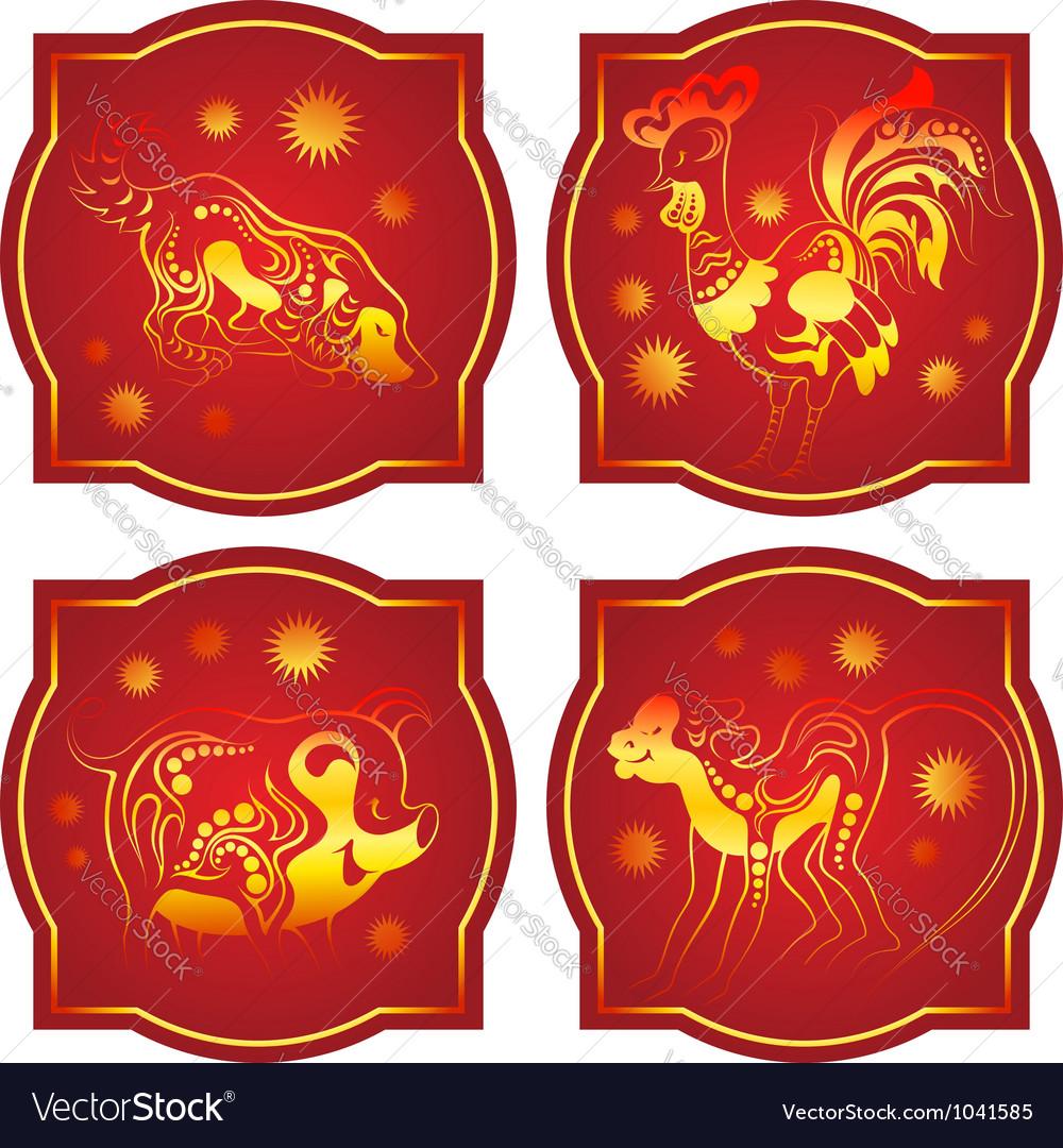 Chinese animals horoscope set