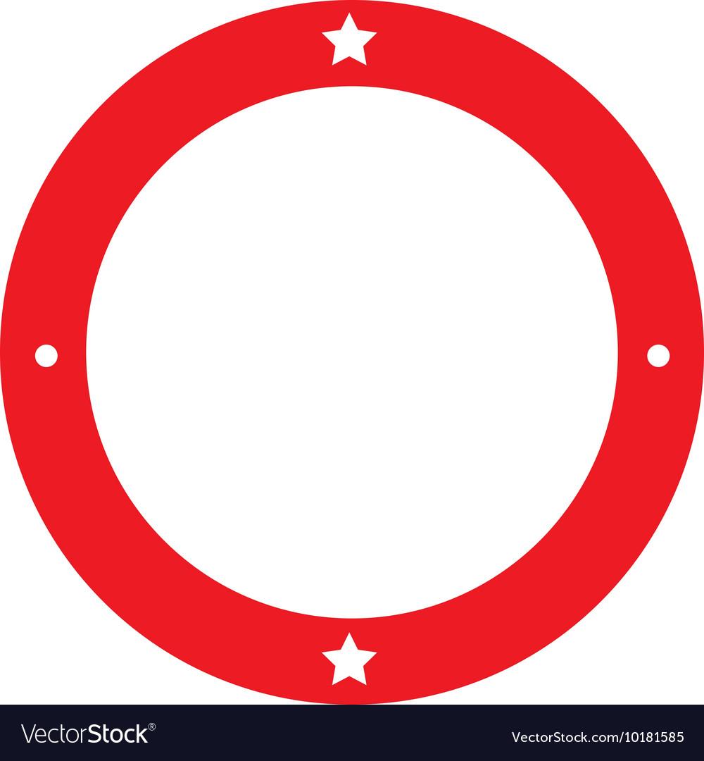 Circle seal frame icon