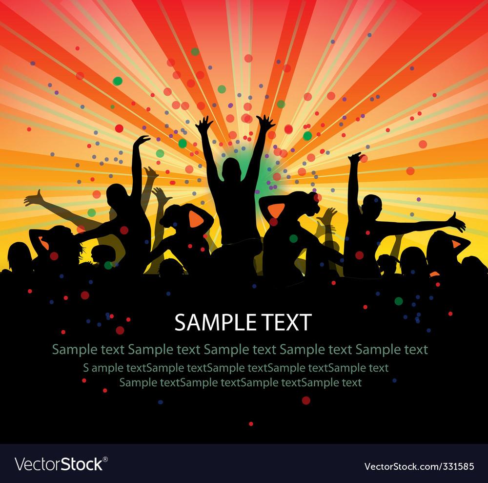 dance party flyer royalty free vector image vectorstock