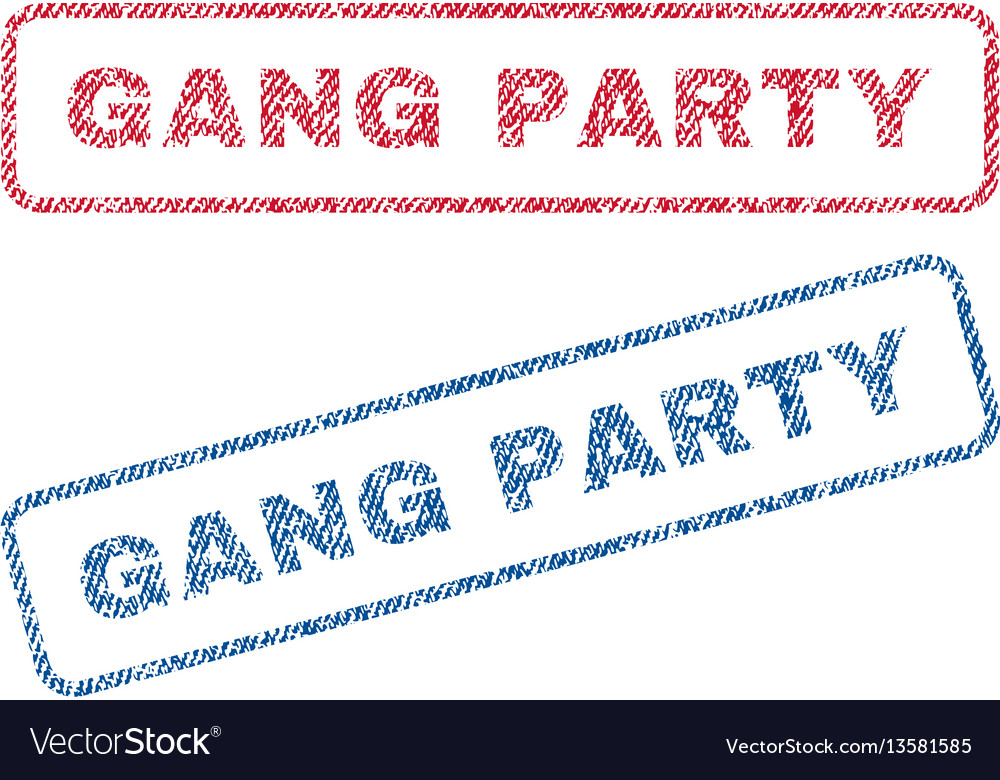 Gang party textile stamps