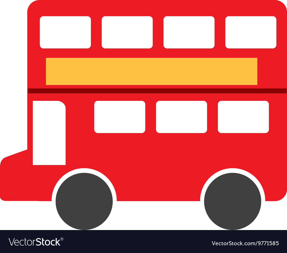 London bus isolated icon design