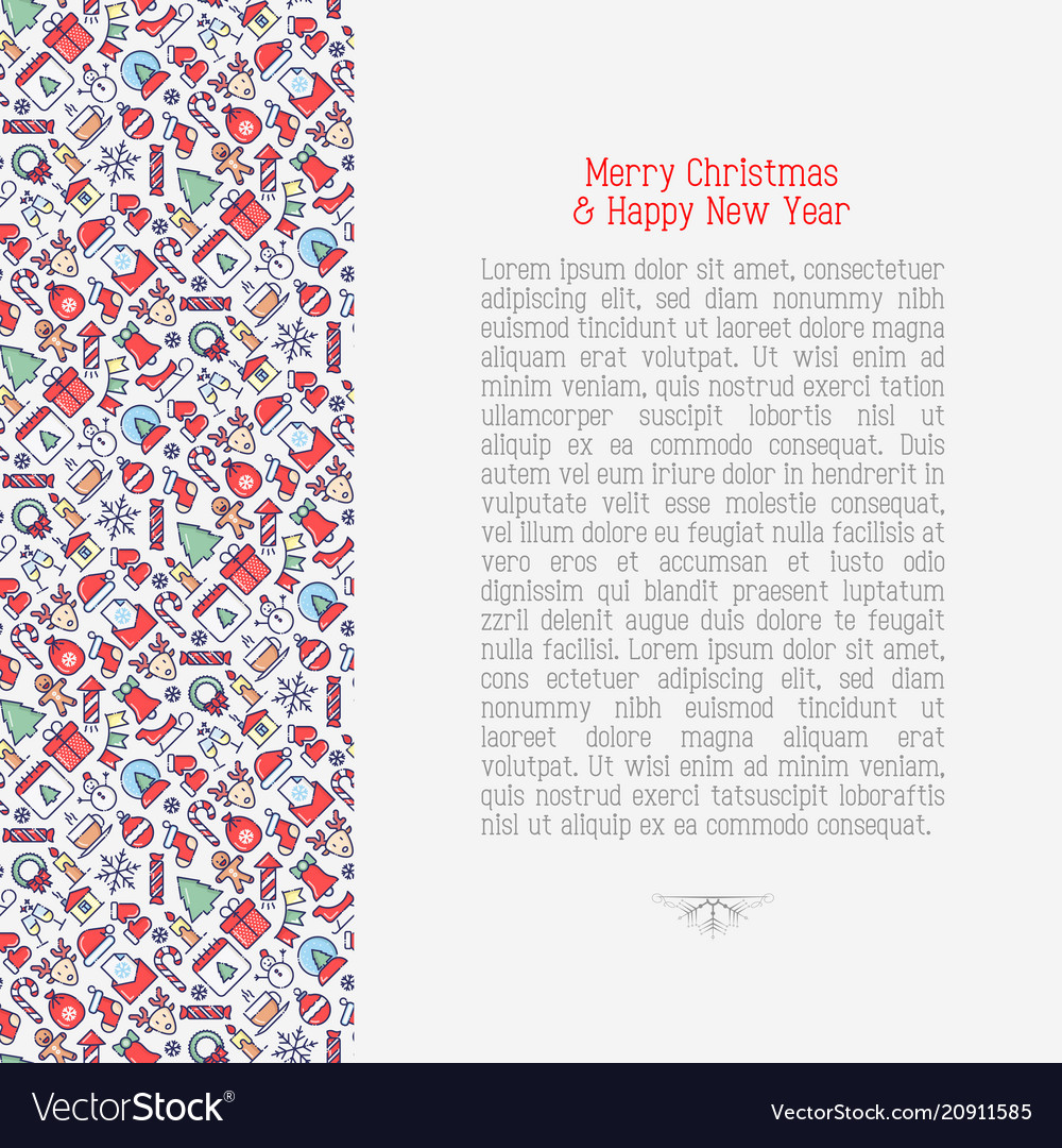 Merry christmas celebration concept vector image