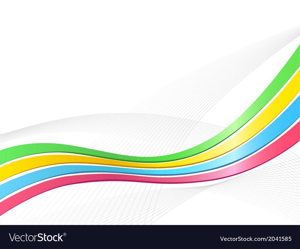 Ribbon wave background