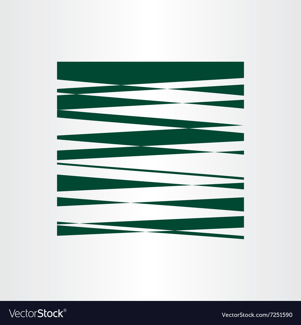 Dark green abstract background design vector image