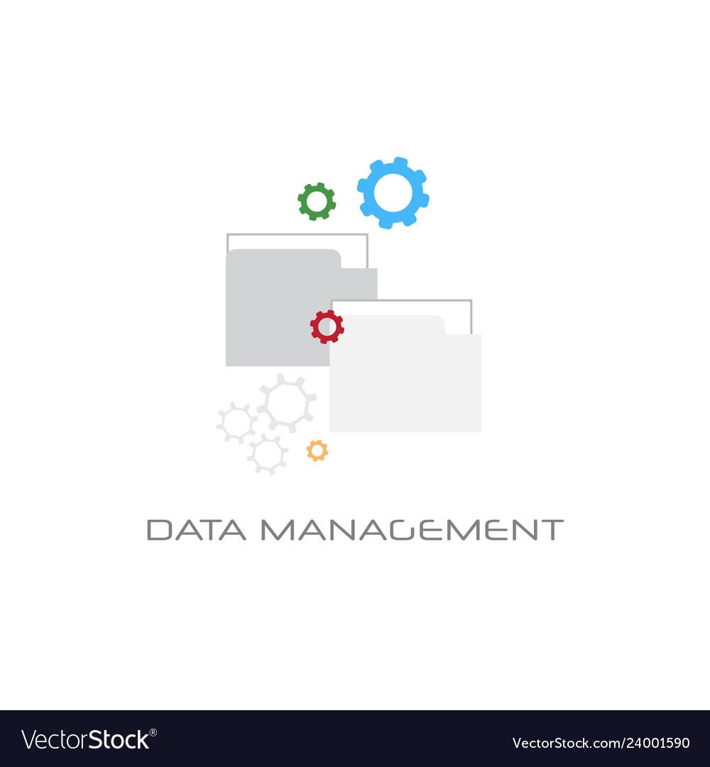 Data management content marketing concept white