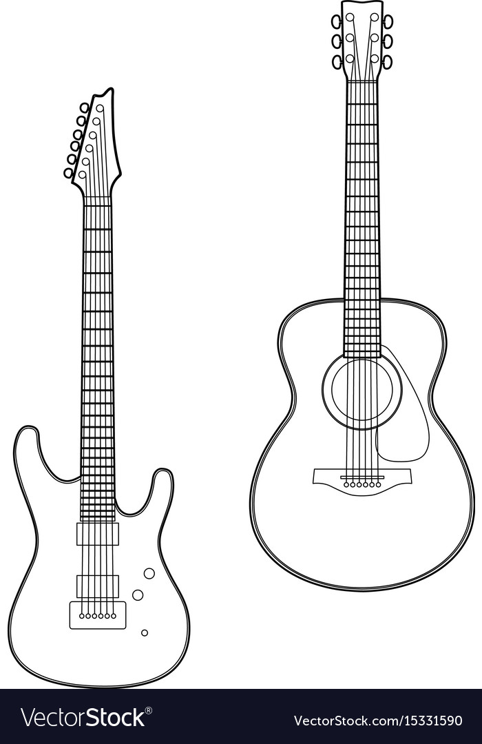 35 Latest Guitar Drawing