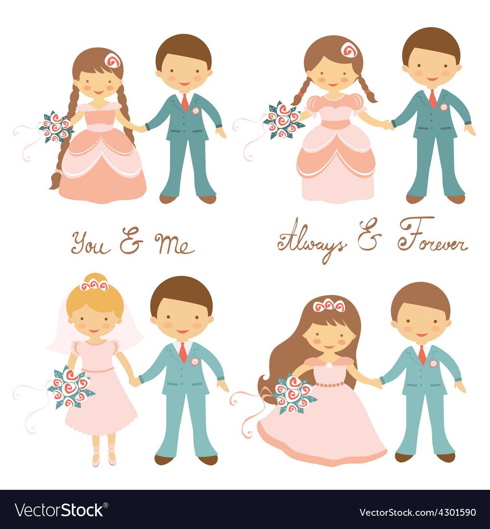 Wedding couples set