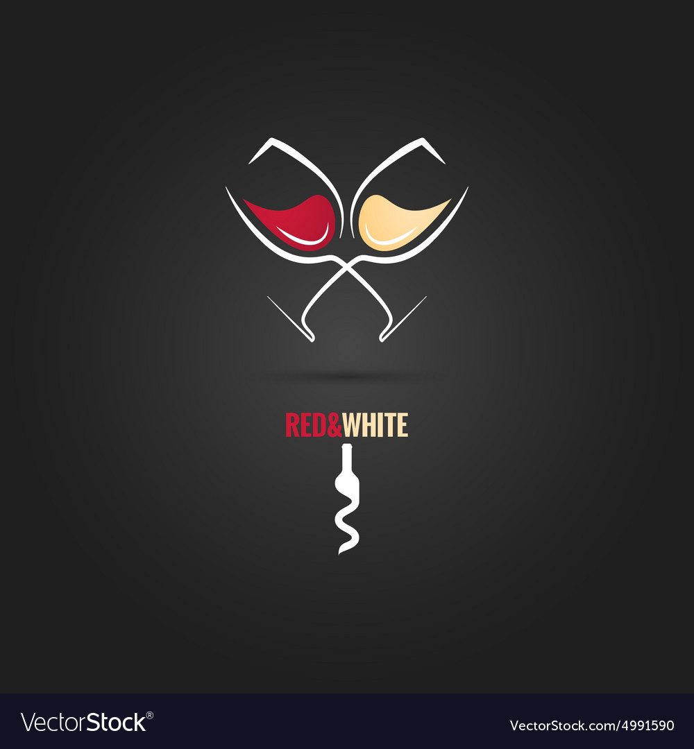 Wine glass concept design background