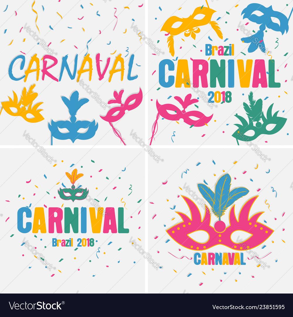 Carnaval banner set