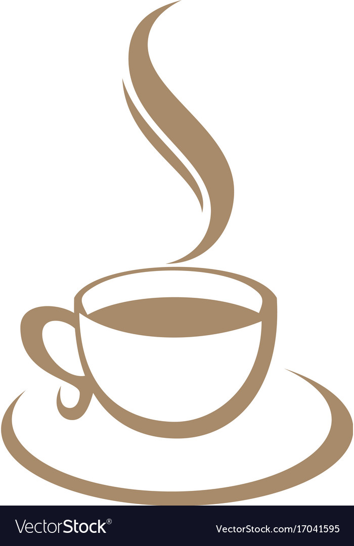 Coffee cup cafe logo Royalty Free Vector Image