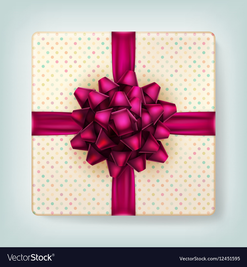 Gift box with a bow EPS 10