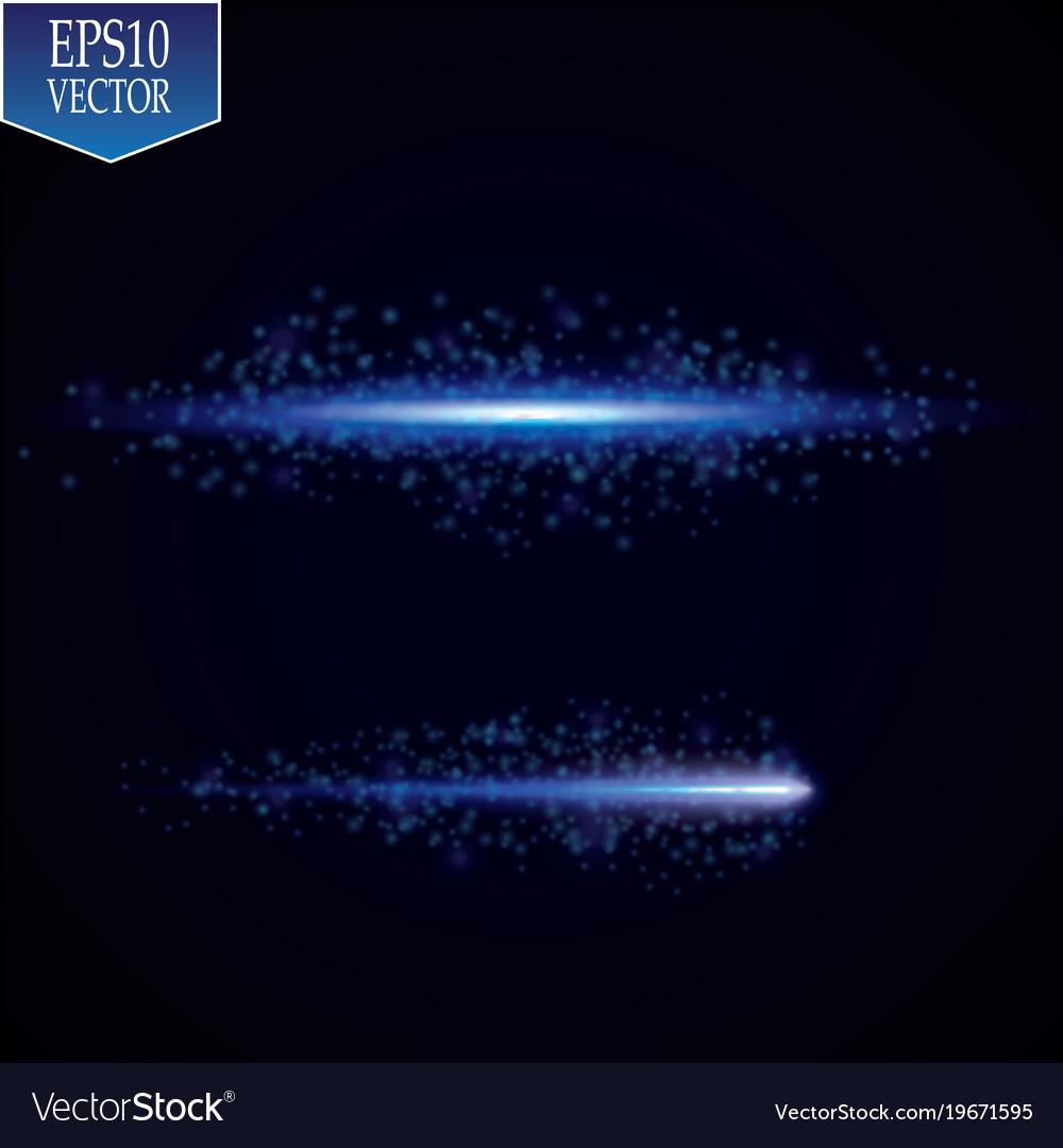 Glow effect luminous ring neon lights cosmic