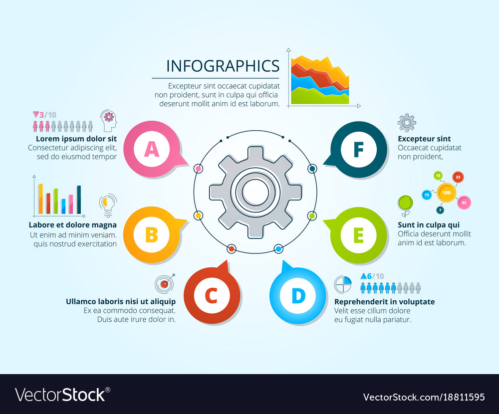 Modern business infographics with radial shapes vector image ccuart Gallery
