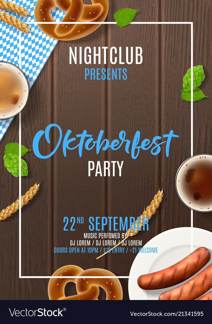 Promo flyer for oktoberfest party