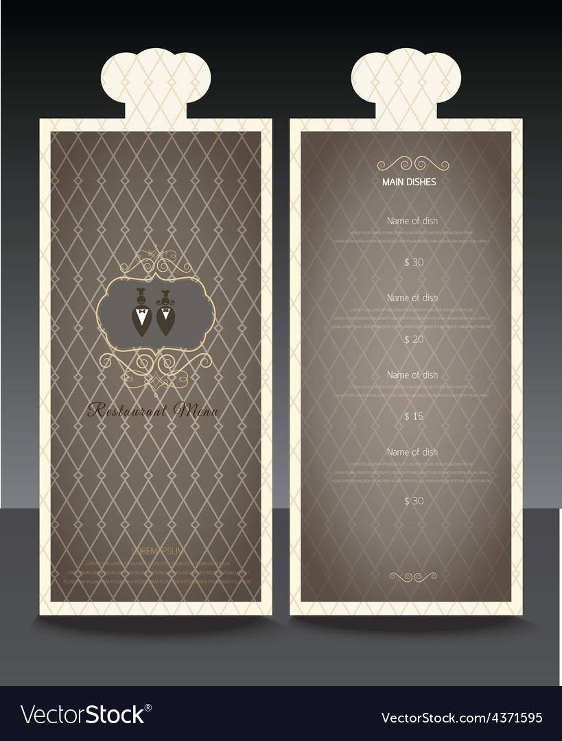 Restaurant or cafe menu design template vin