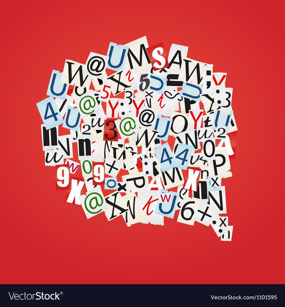Talk bubbles of letters vector image
