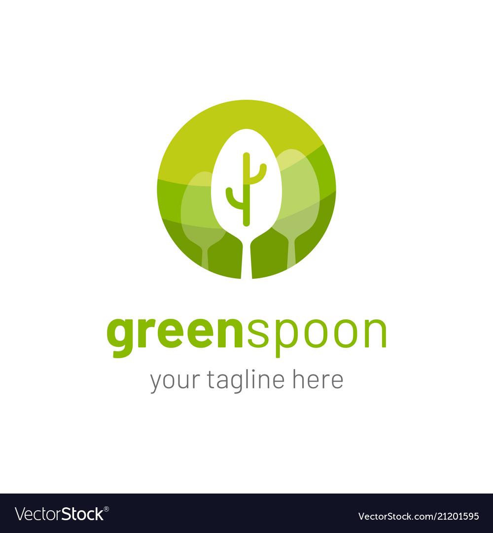 Vegetarian Restaurant Logo Vegan Restaurant Logo Vector Image