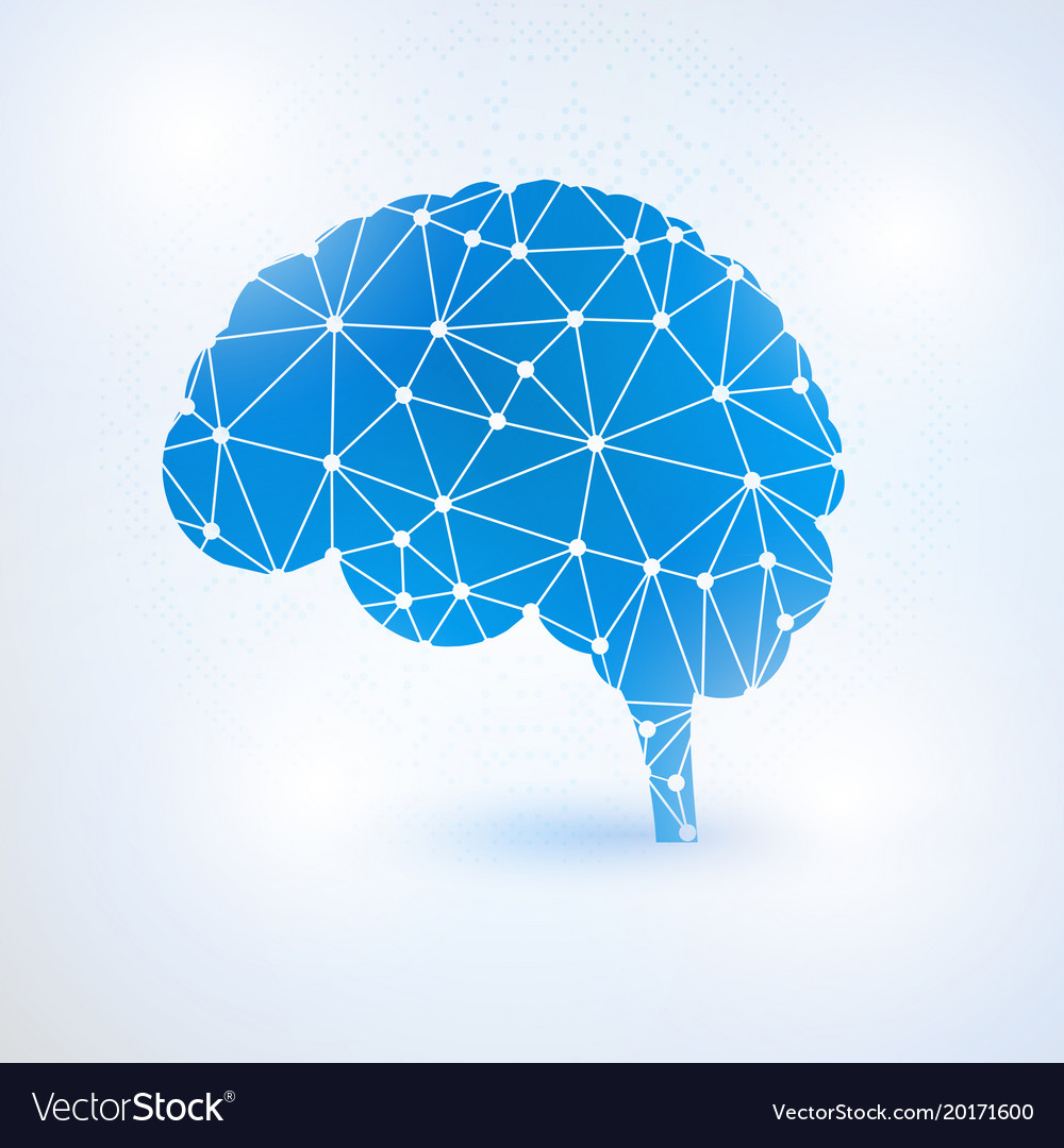 Artificial intelligence brain concept with binary vector image ccuart Image collections