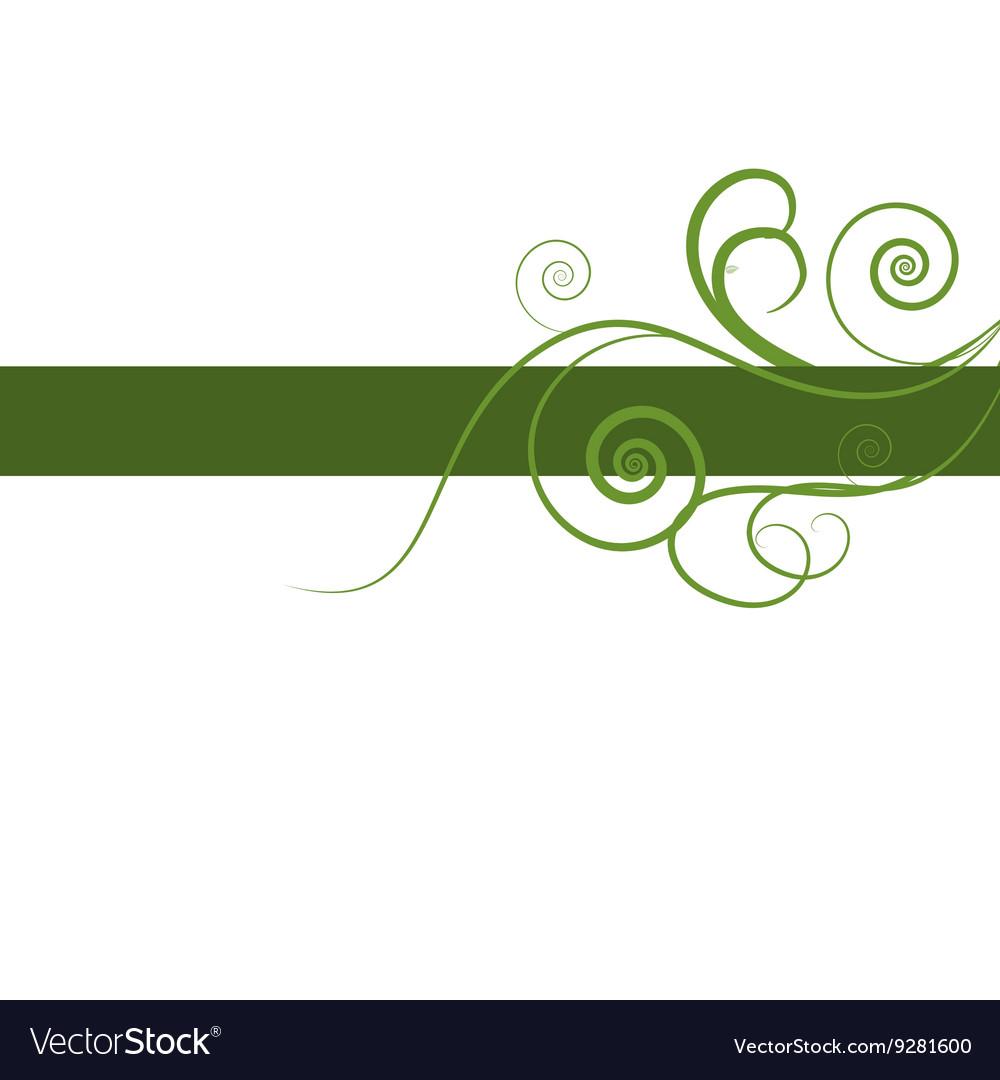 Green floral design vector image