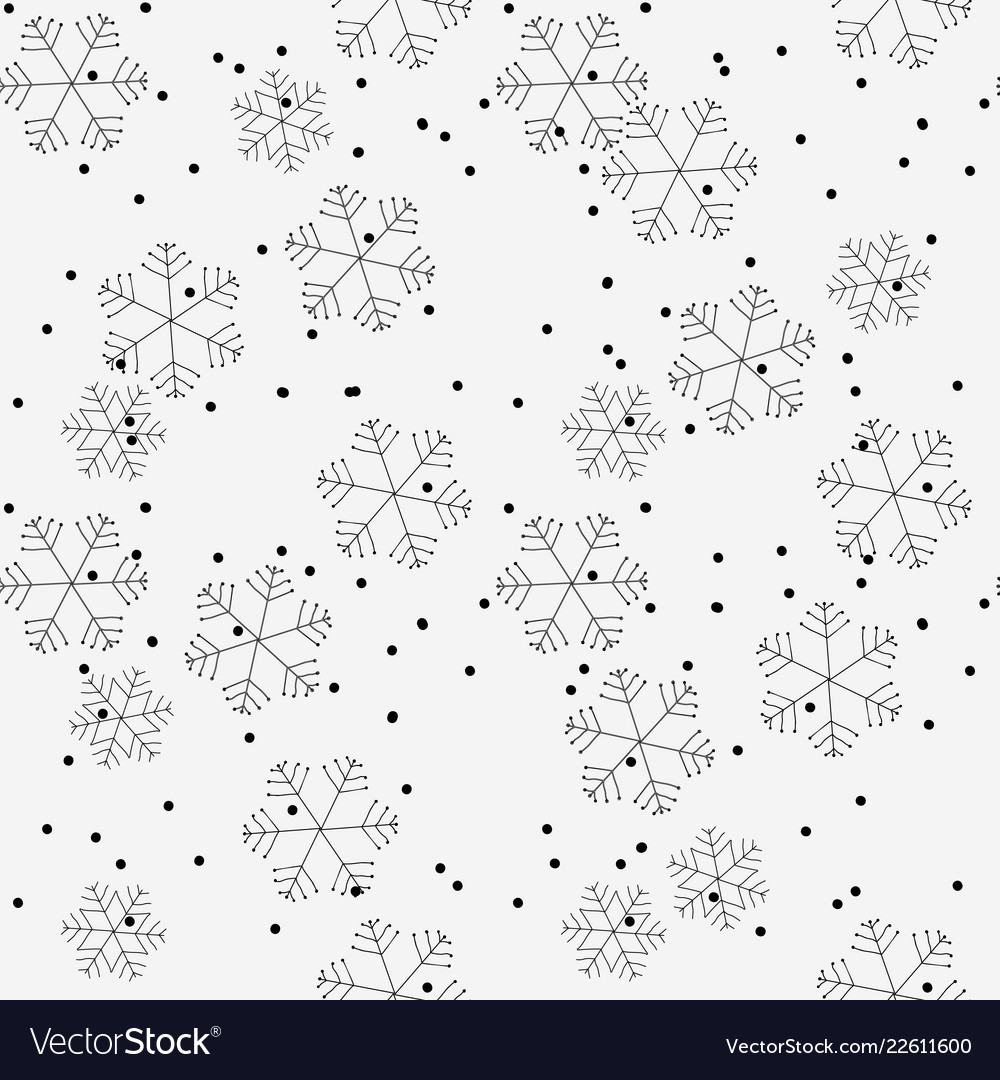 Hand drawn winter seamless patterns doodle