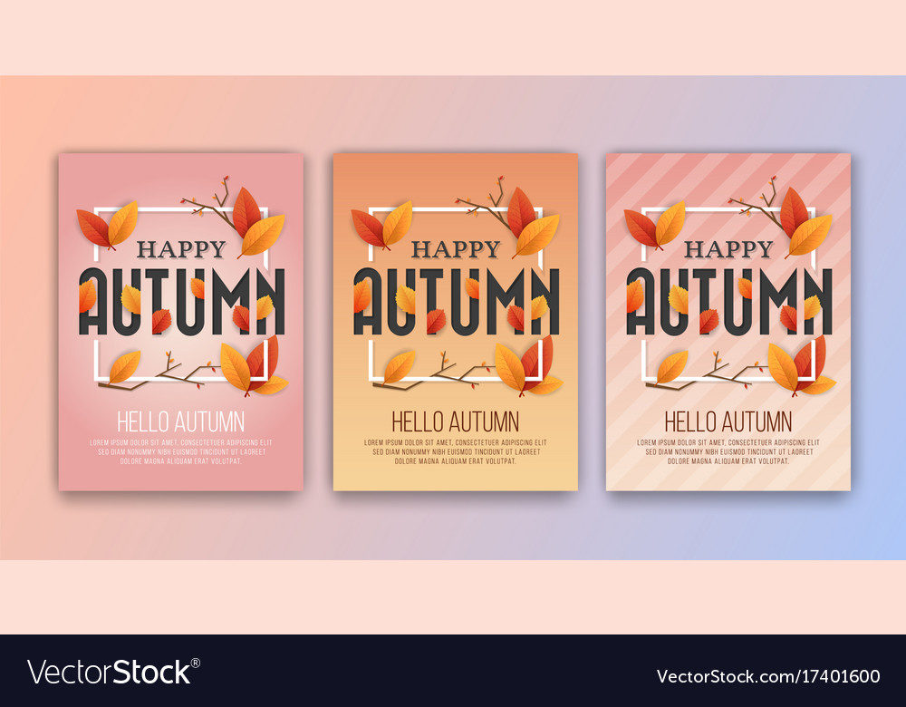 Happy autumn seasons greetings card background