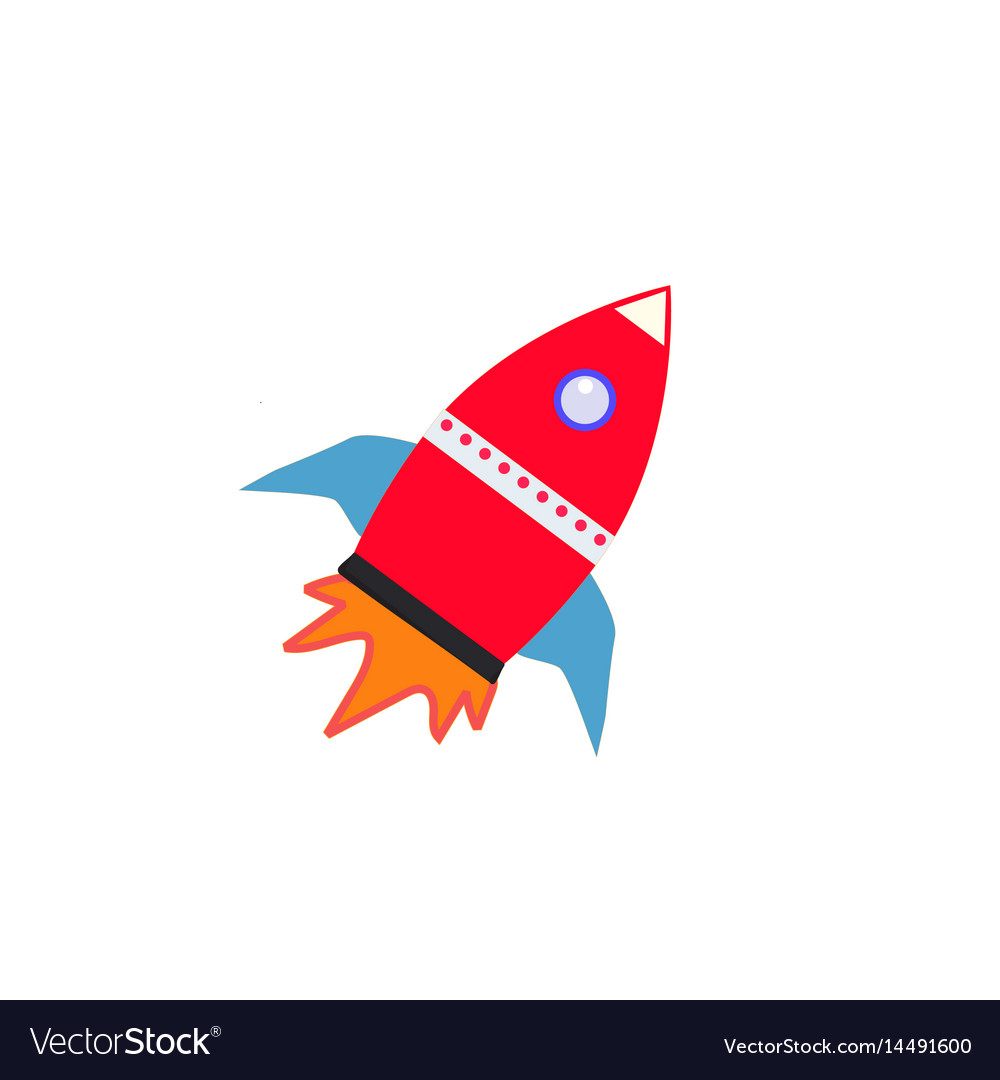 Rocket icon on white background rocket sign vector image