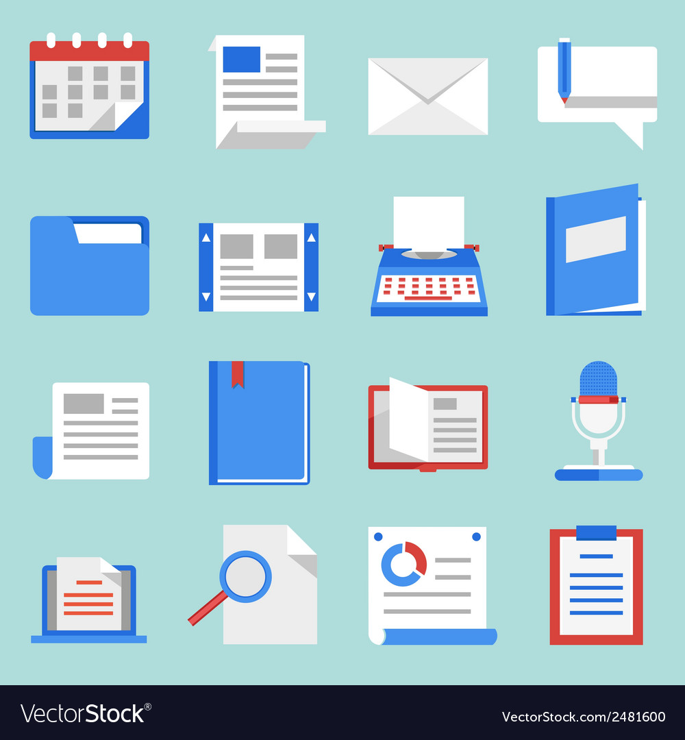 Set of flat icons for web and mobile applications