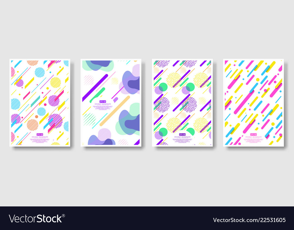 Abstract covers with seamless background