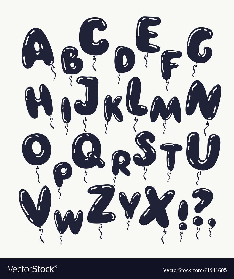 Black letters