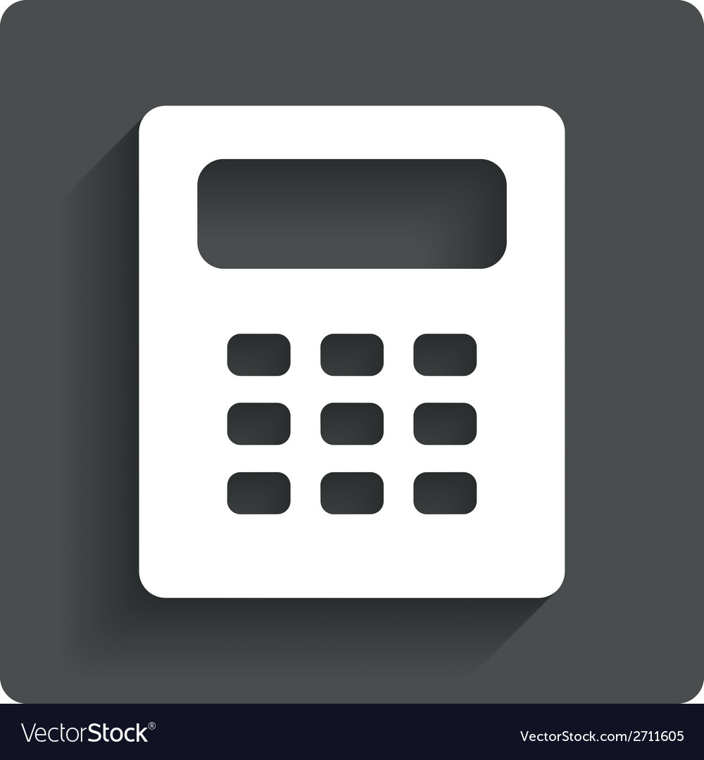 calculator sign icon bookkeeping symbol royalty free vector