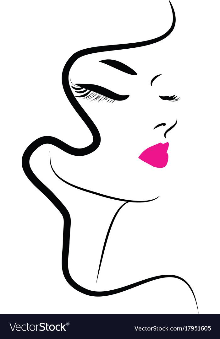 Hair Beauty Makeup Icon Royalty Free Vector Image