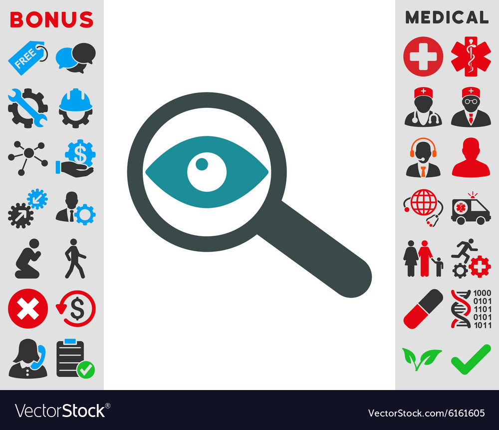 Investigate Icon vector image