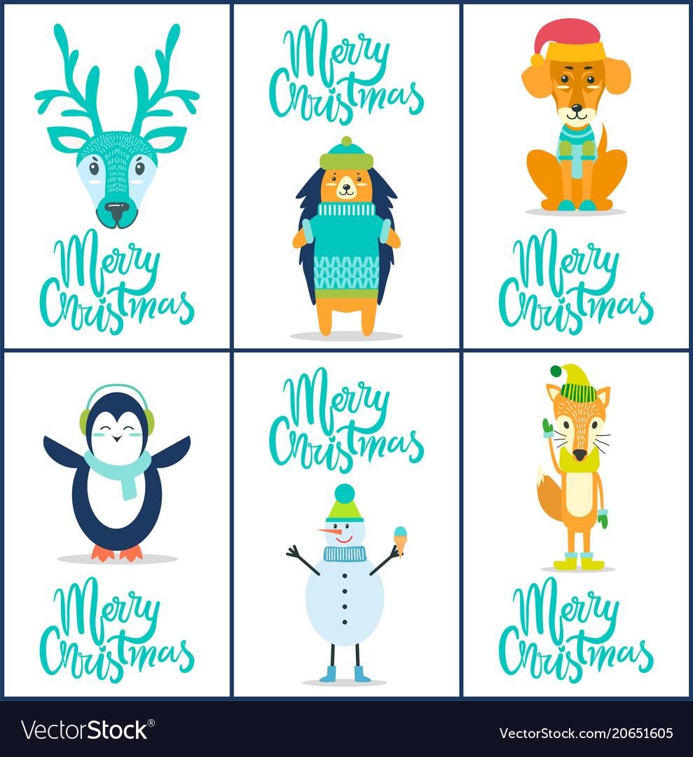Merry christmas reindeer on