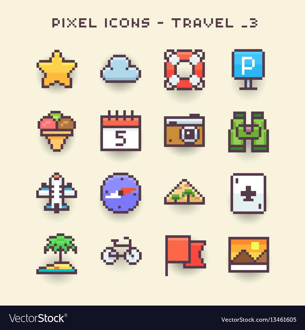 Pixel icons-travel 3