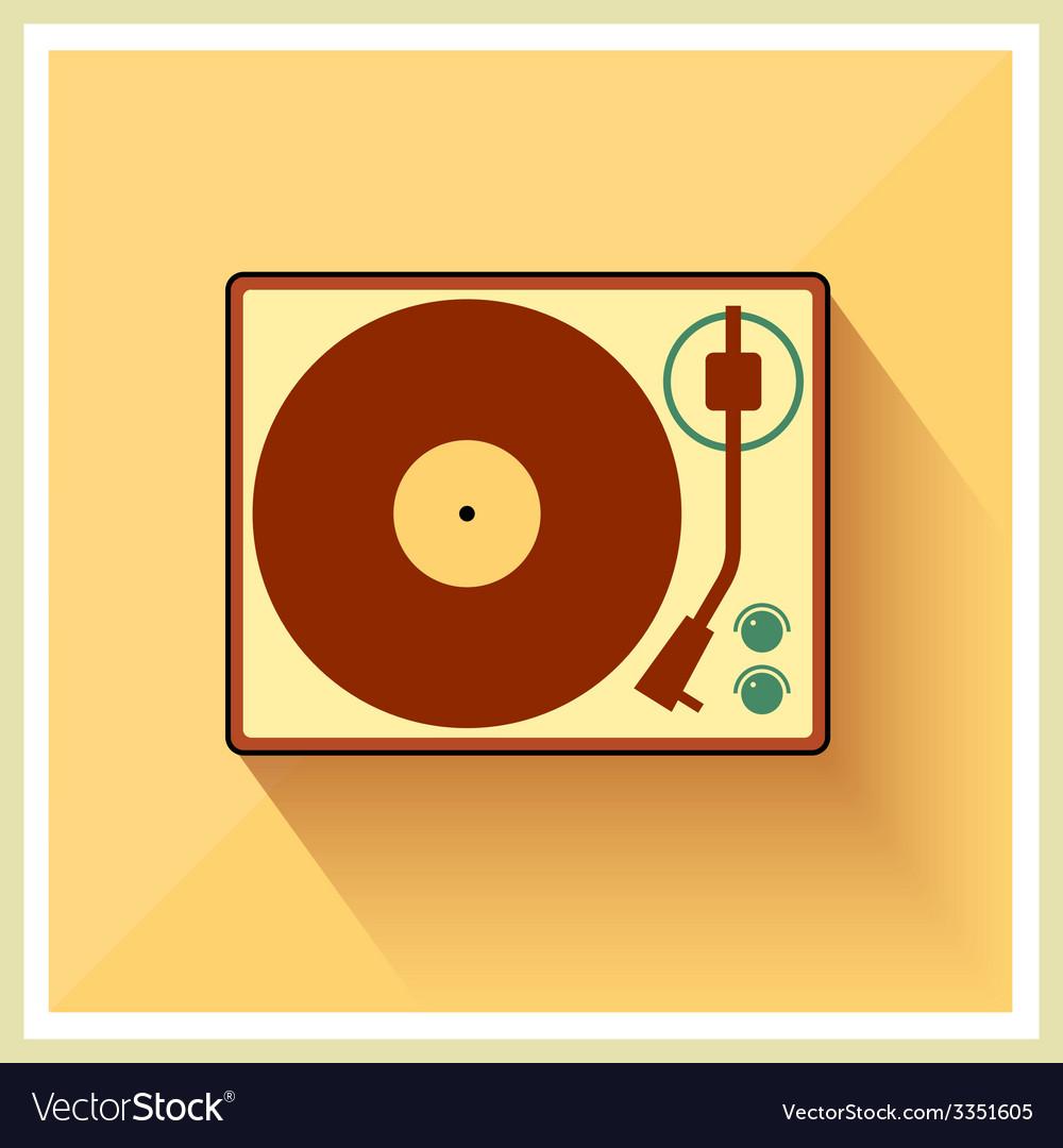 Retro turntable vinyl record player