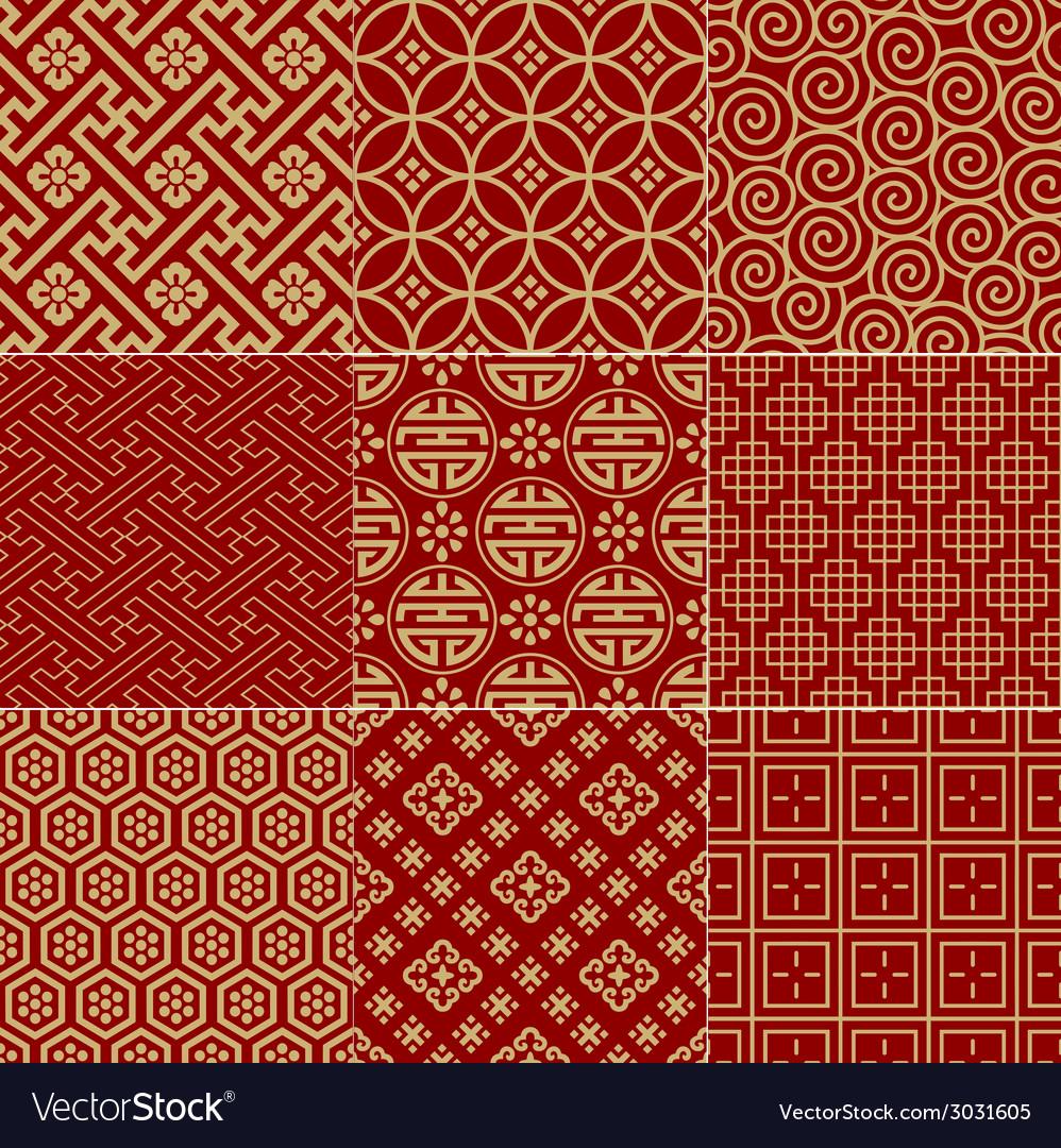 Seamless Chinese traditional mesh pattern