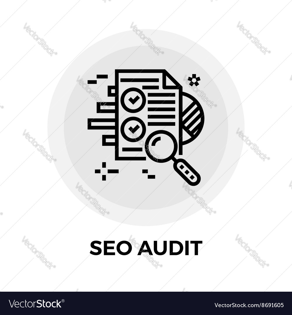 SEO Audit Line Icon