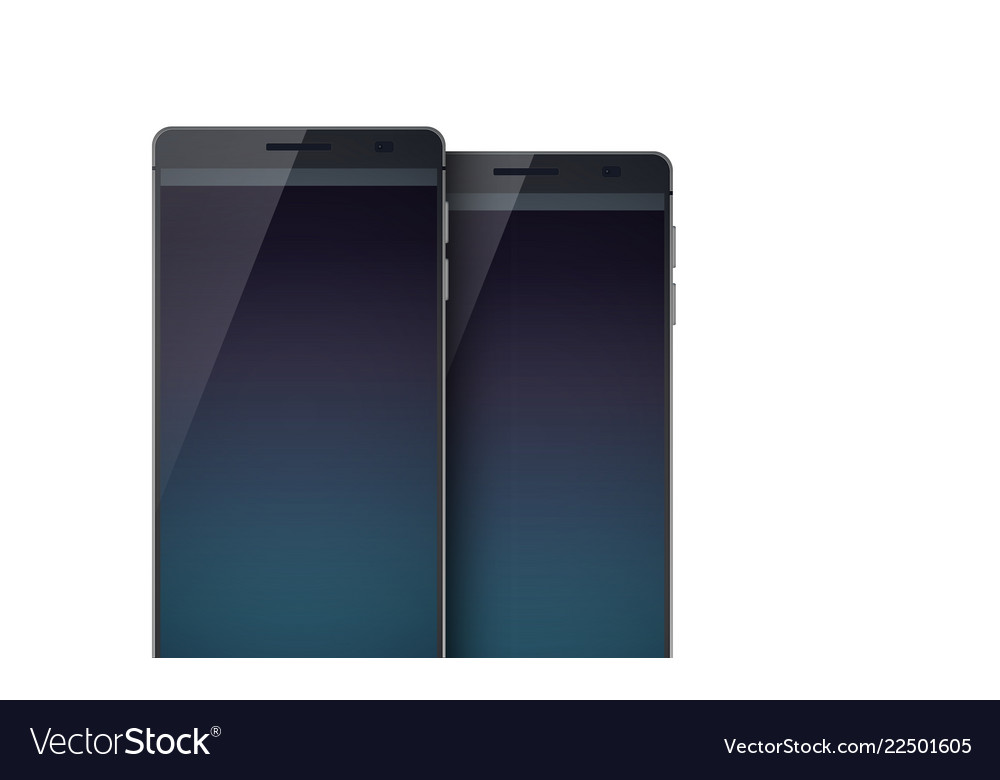 Set of two realistic smartphones