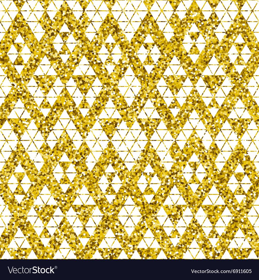 Tribal glitter golden seamless pattern