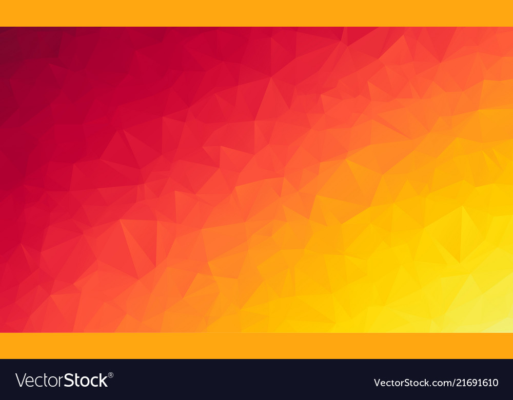 Abstract polygon orange background of modern