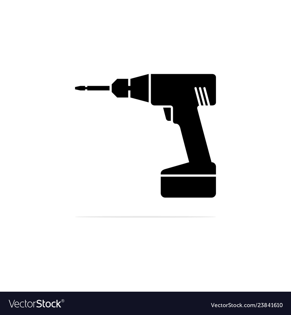 Battery drill icon concept for