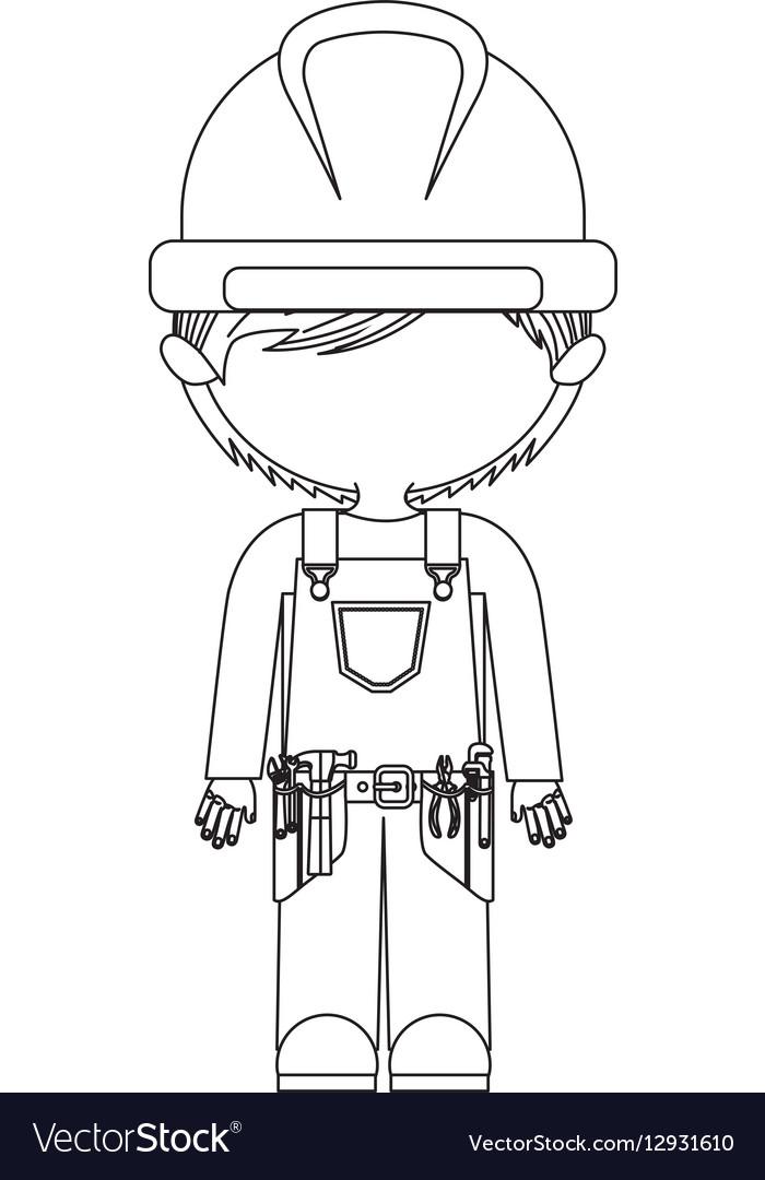 Construction worker cartoon