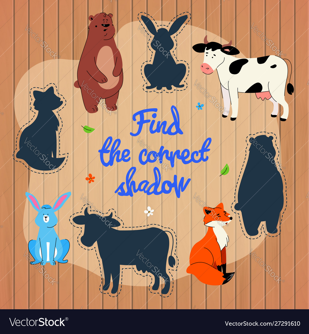 Find correct shadow learning game template