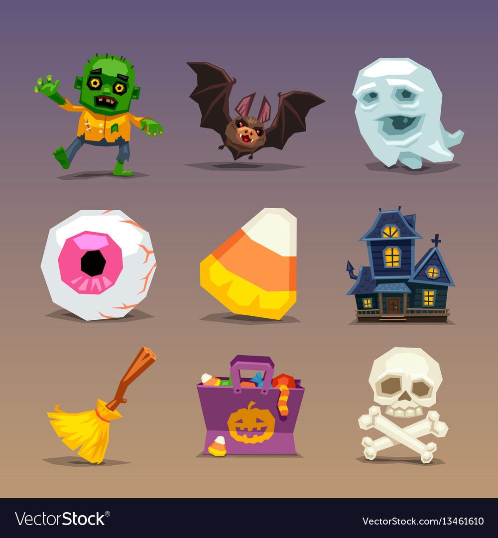 Funny halloween icons-set 1