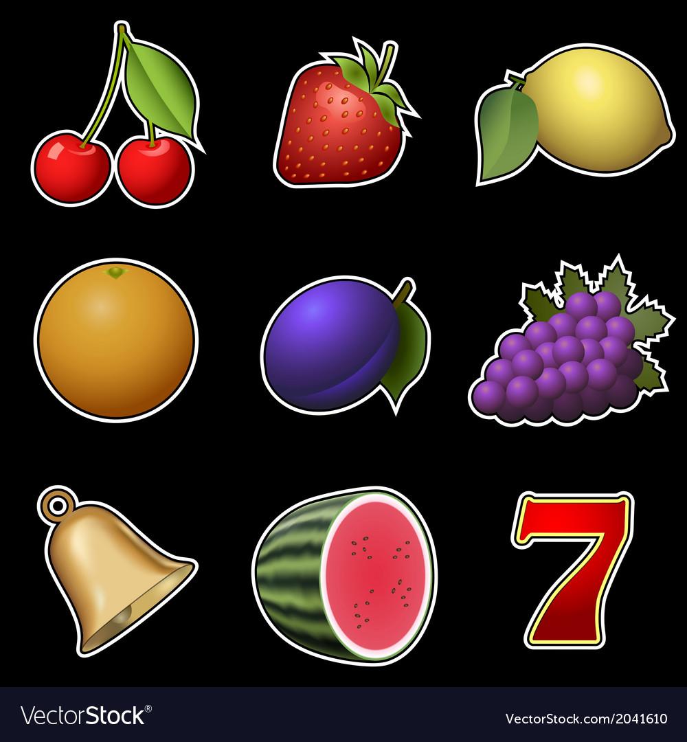 Slot machine fruit symbols